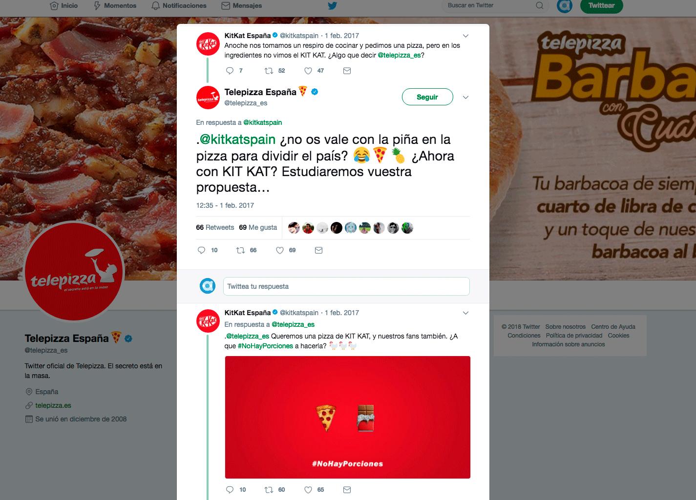 Telepizza y KitKat escuchan a sus usuarios y lanzan nuevo producto