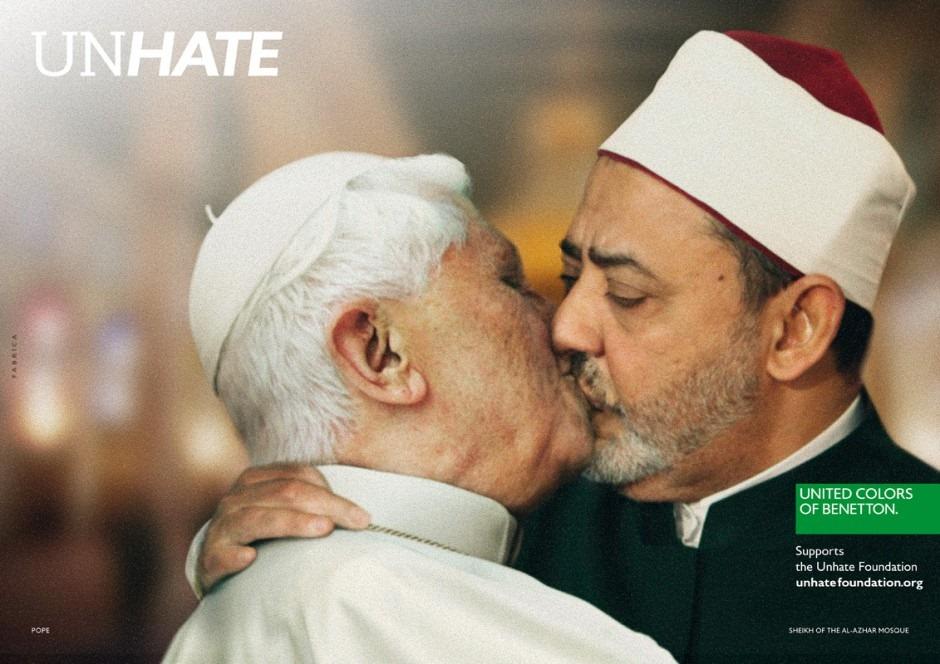 Crisis de Benetton por campaña UNHATE