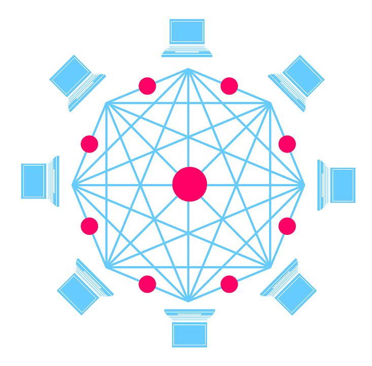 La forma de comunicación de blockchain